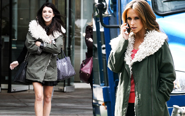 90210's Shenae Grimes &amp;amp; Jennifer Love-Hewitt wearing the Style Stalker Rebellion Women's Parka Coat Khaki