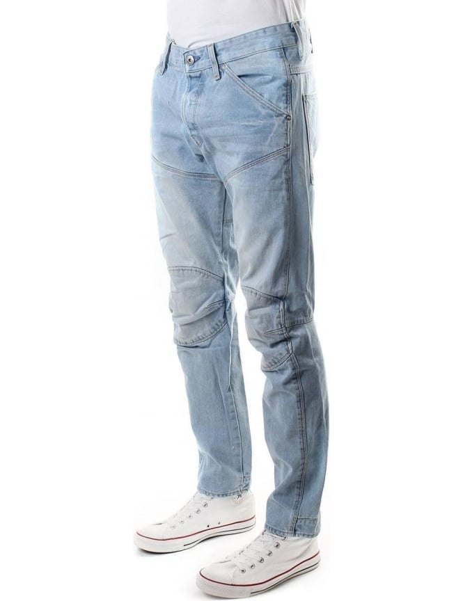 6032463ee14 G-Star Raw 3D Tapered Wisk Denim Men's Jean Lt Aged