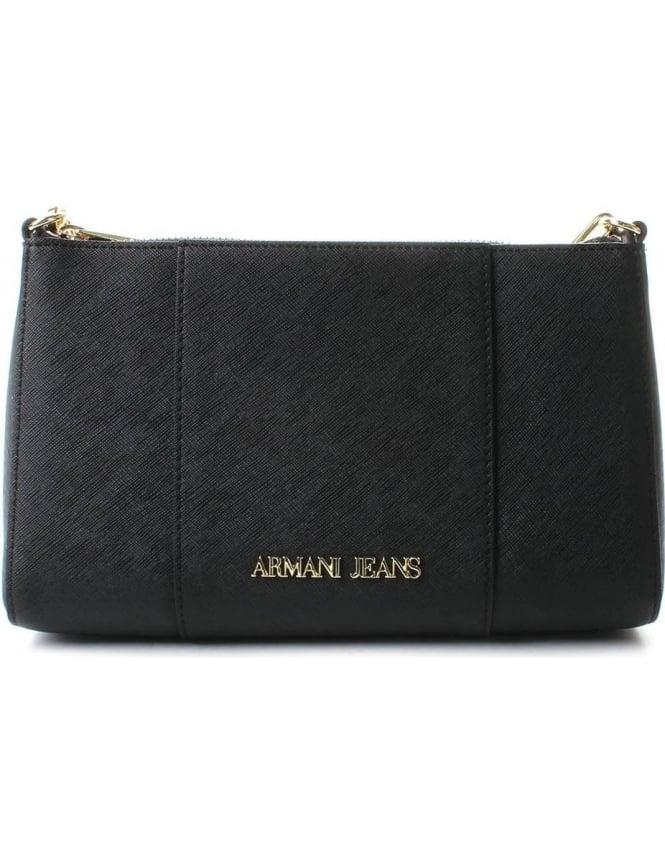 f0e2a7dba4 Armani Jeans 922544 Women's Textured Shoulder Bag Black