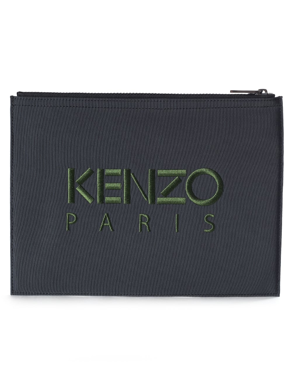 dccf532c2bf Kenzo A4 Men's Embroidered Tiger Clutch Dark Grey