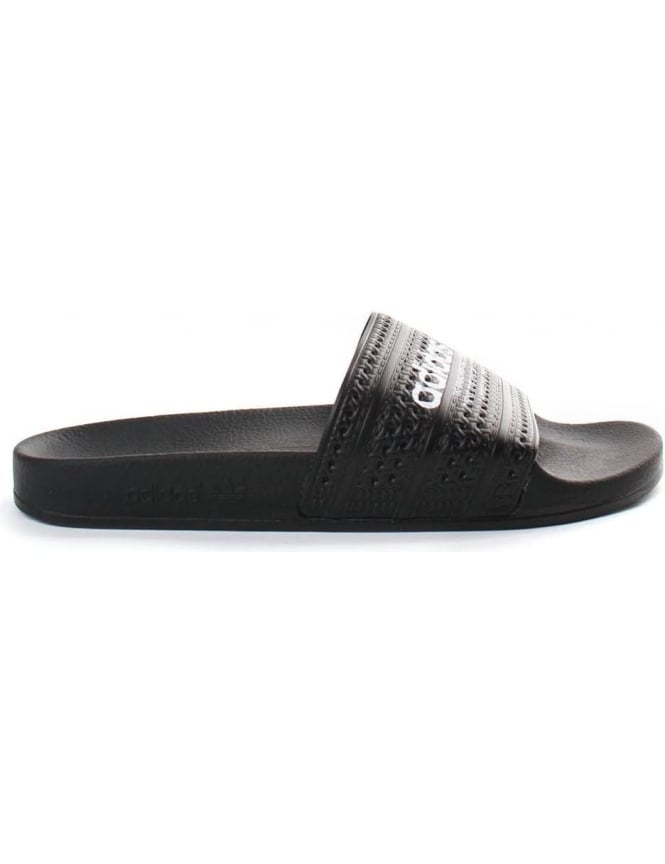 Adidas Adilette Men's Logo Sliders Black