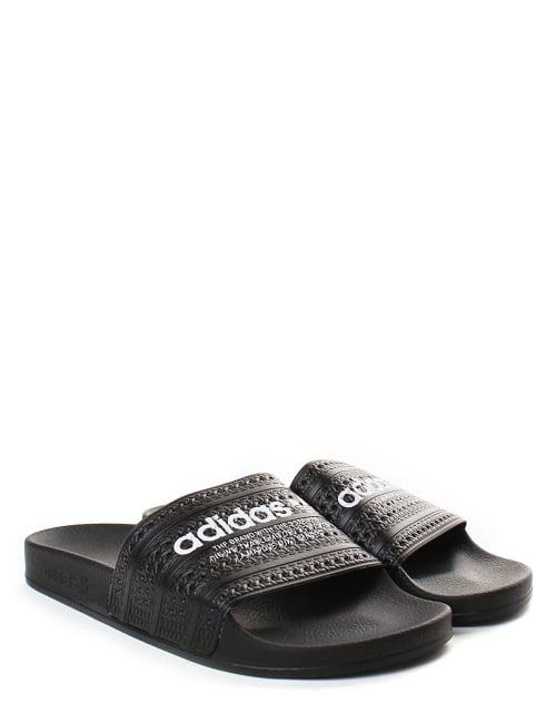 7f349bf63130 Adidas Adilette Men s Logo Sliders Black