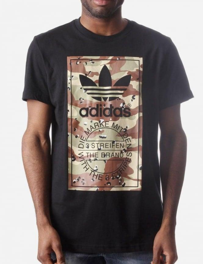d9c6dcf4 Camo Men's Label Print T-shirt Black