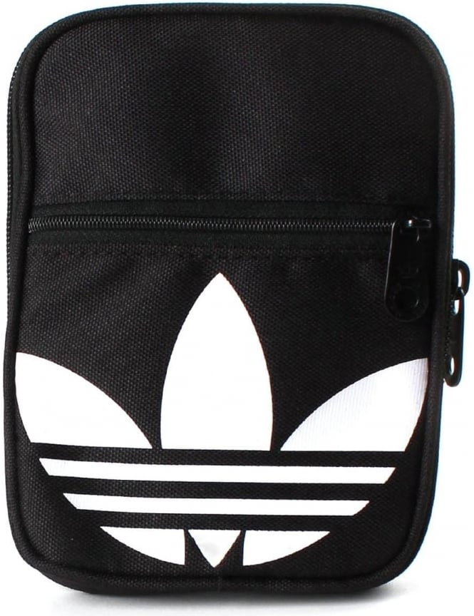 Adidas Festival B Men s Trefoil Logo Small Crossbody Bag Black 59650f31a295f