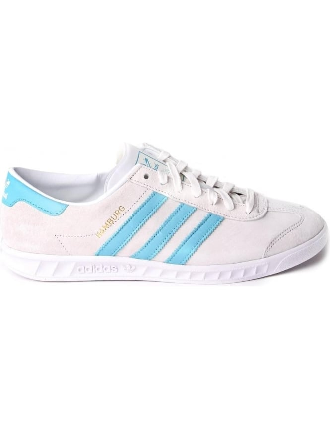 3f99eef9765 Adidas Hamburg Men s 3 Stripe Lace Up Trainer White