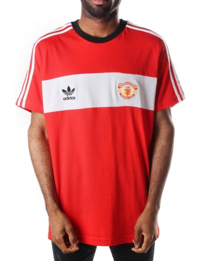 T Redwhite United Adidas Men's Manchester Fc 85 Shirt EDH29I