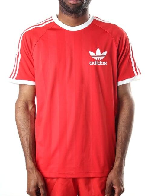 Adidas Men s Originals California T-shirt Red a2b343bd6942