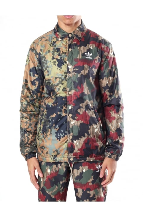 Men's Pharrell Williams HU Hiking Camo Reversible Coach Jacket