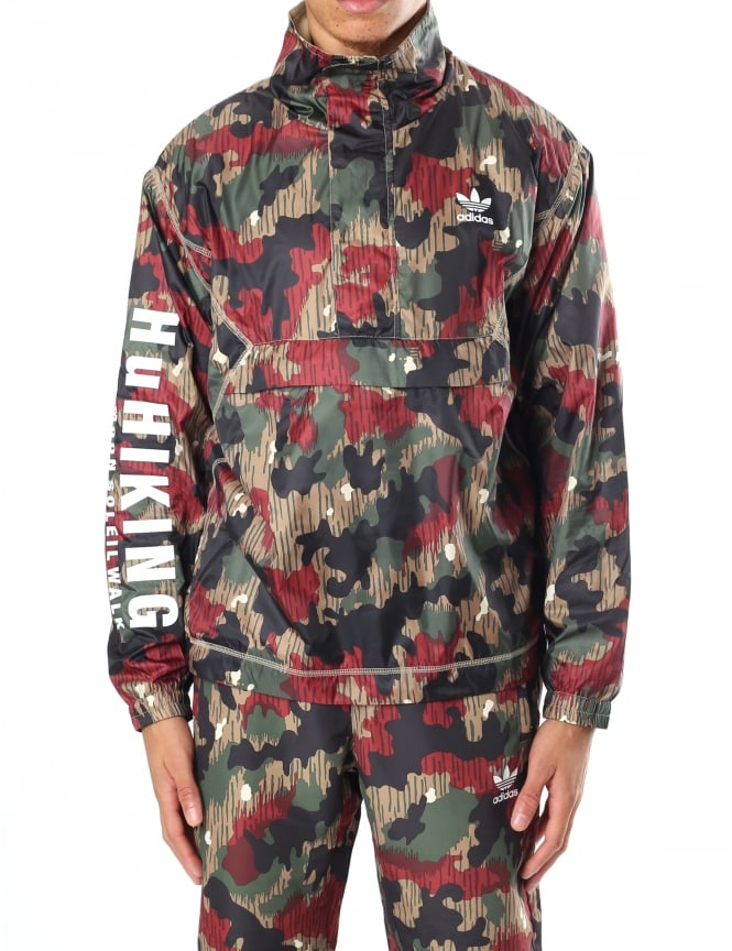 Adidas Men's Pharrell Williams HU Hiking Camo Windbreaker