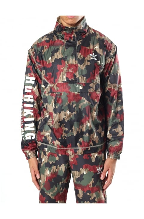 Men's Pharrell Williams HU Hiking Camo Windbreaker