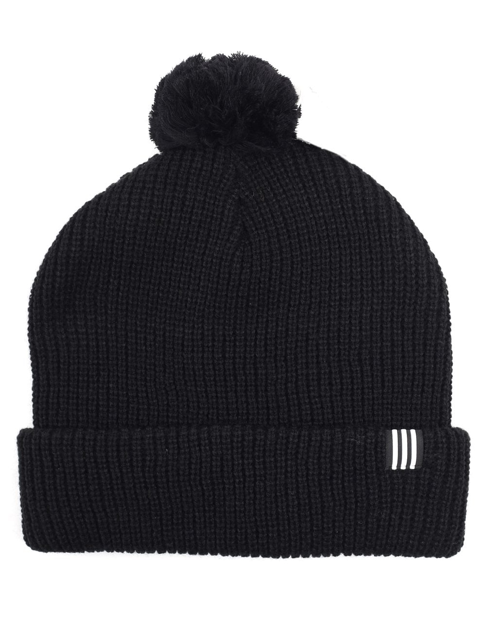 Adidas Men s Pom Pom Beanie Hat Black 20ac356324c
