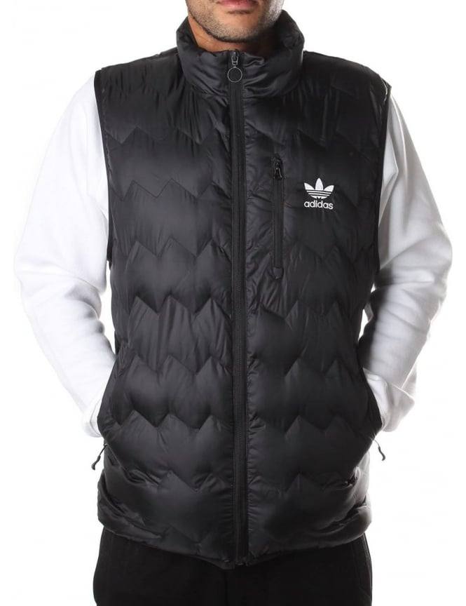 Adidas Men's Serrated Zip Through Gilet