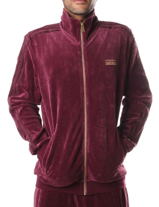 adidas velour tracksuit mens