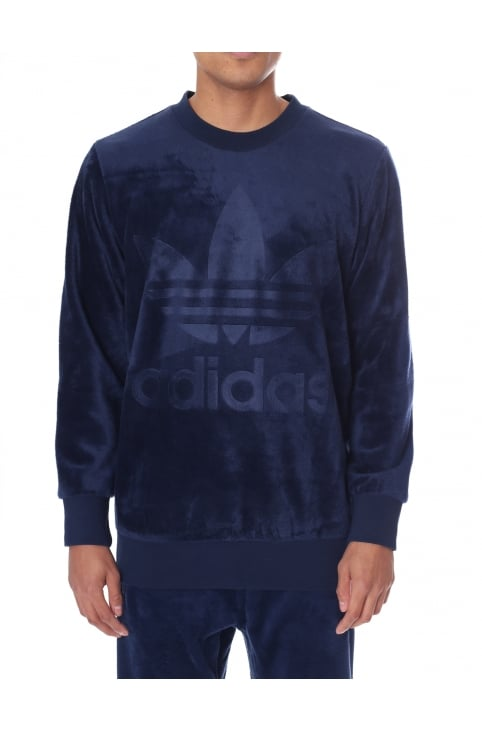 Men's Velour Crew Neck Sweat Top
