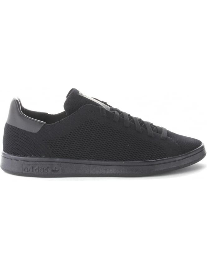Stan Adidas Smith Primeknit Men s Lace Up Trainer Black f94f5da1d