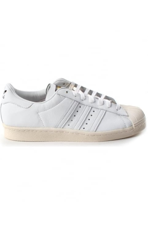 Superstar 3 Stripe Lace Up Men's Trainer White