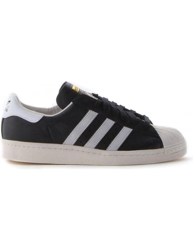 3ff26caa7d1c Superstar Shell Toe 3 Stripe Men s Trainer Black White