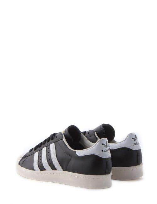 reputable site 6fa38 e6e3e Adidas Superstar Shell Toe 3 Stripe Men's Trainer Black/White