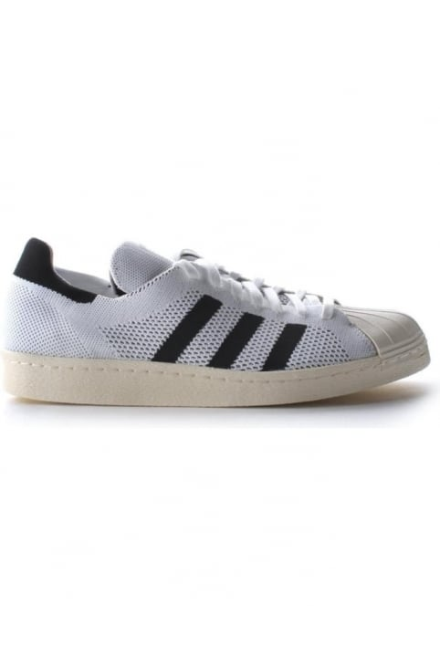 Superstar Three Stripe Prime Knit Lace Up Men's Trainer White