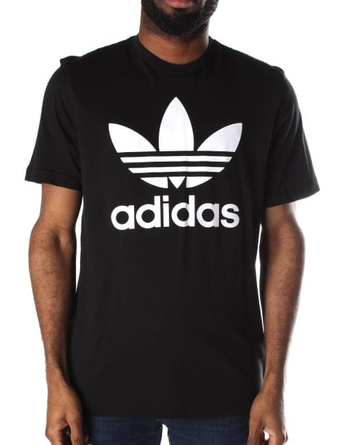 Adidas Trefoil Men 39 S Logo Crew Neck Short Sleeve T Shirt