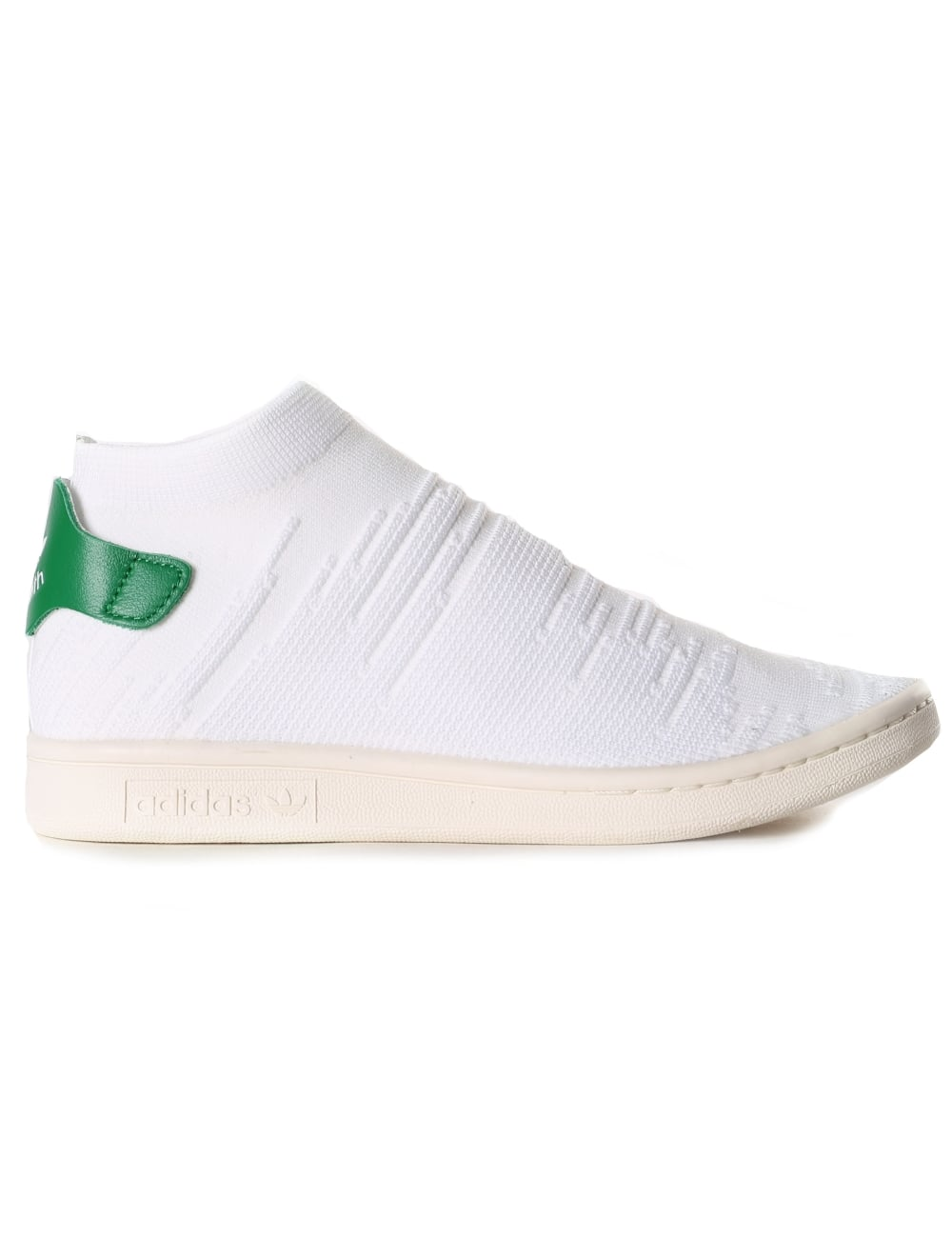3c480a5c9ad Adidas Women s Stan Smith Sock Prime Knit Trainer White Green