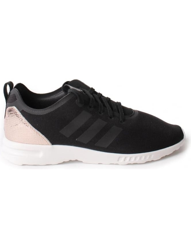 best website 1f925 d2647 Adidas ZX Flux Women's 3 Stripe Lace Up Trainer Black