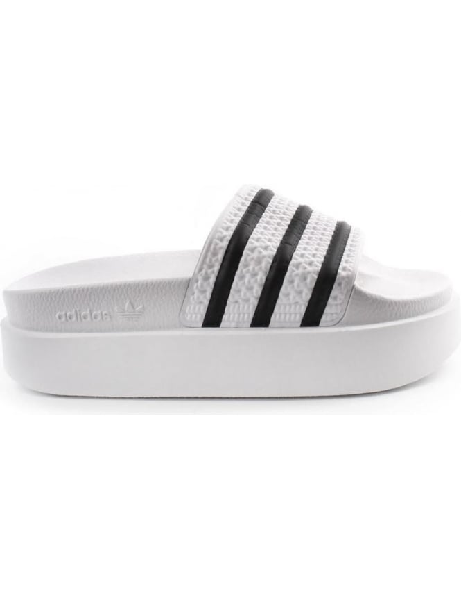 popular stores really comfortable save up to 80% Adidas Adilette Women's Bold Platform Sliders White