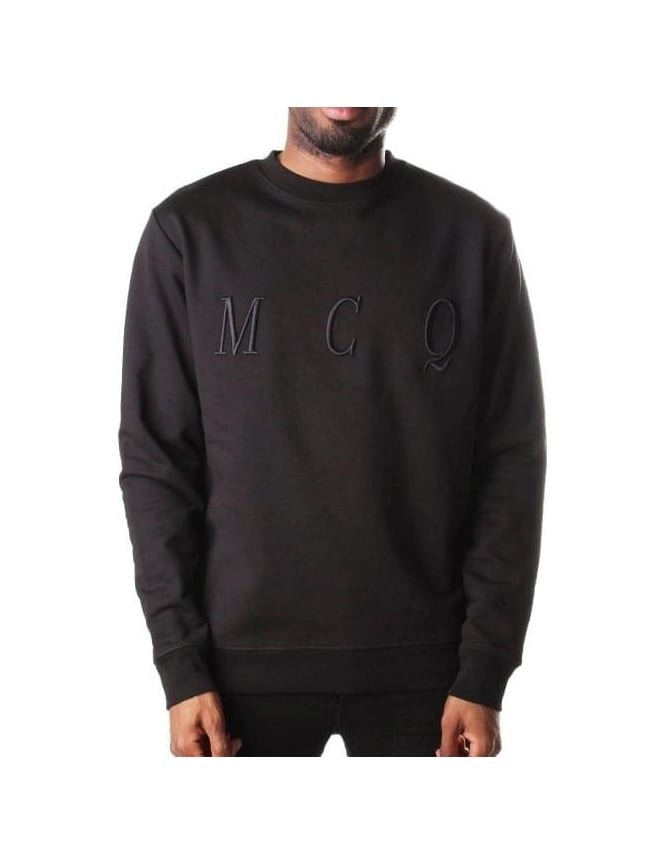 McQ by Alexander McQueen Men's Clean Sweat Top Black