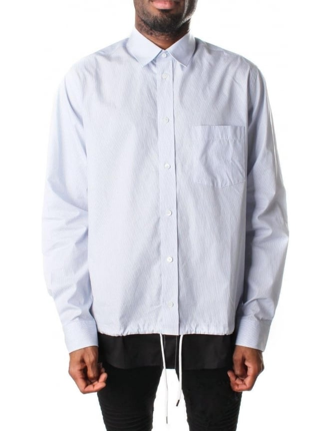 McQ by Alexander McQueen Men's Shields 20 Pinstripe Shirt White
