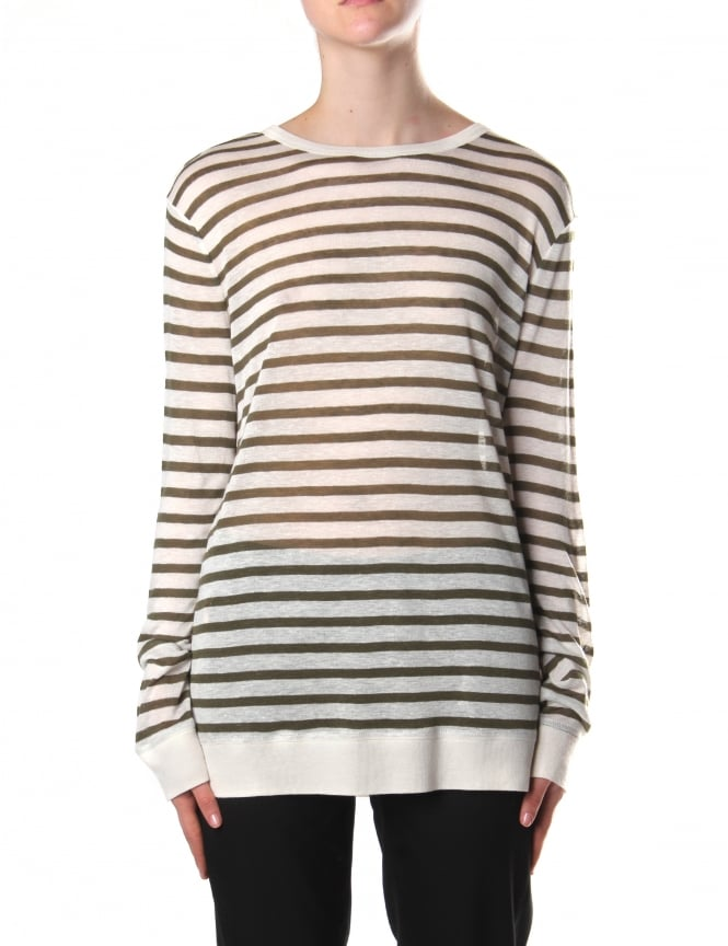 Alexander Wang Women's Stripe Long Sleeve Tee