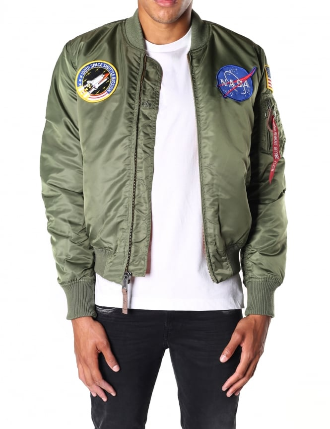 Alpha Industries Men's Ma-1 VF Nasa Bomber Jacket