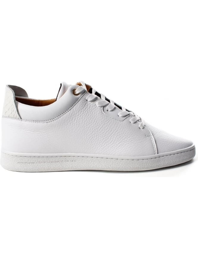 272fb6e2e326 Android Homme Getty Low Smooth Pebbled Men s Trainer White