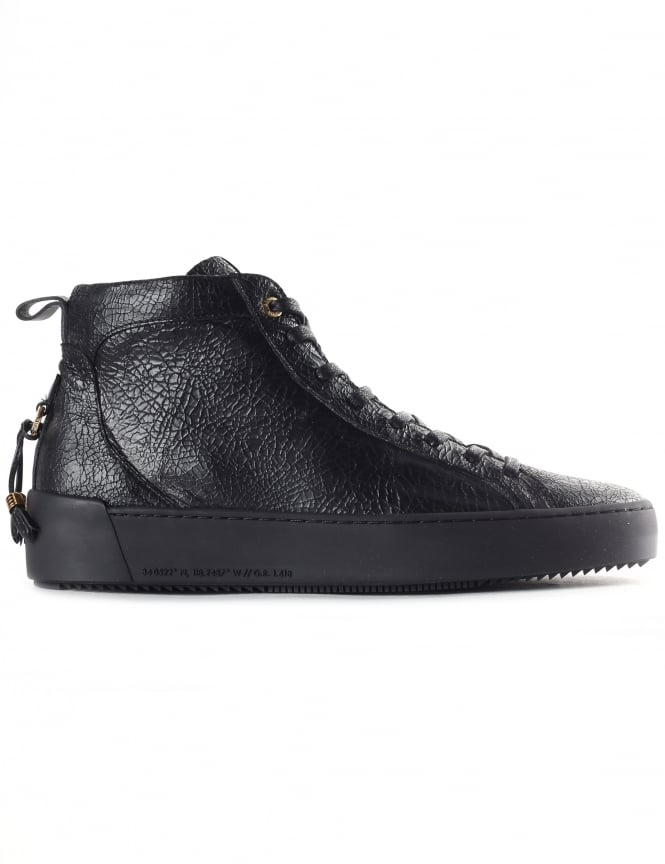 Android Homme Men's Alfa Mid High Cracked Leather Trainer