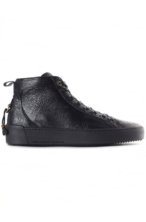Men's Alfa Mid High Cracked Leather Trainer
