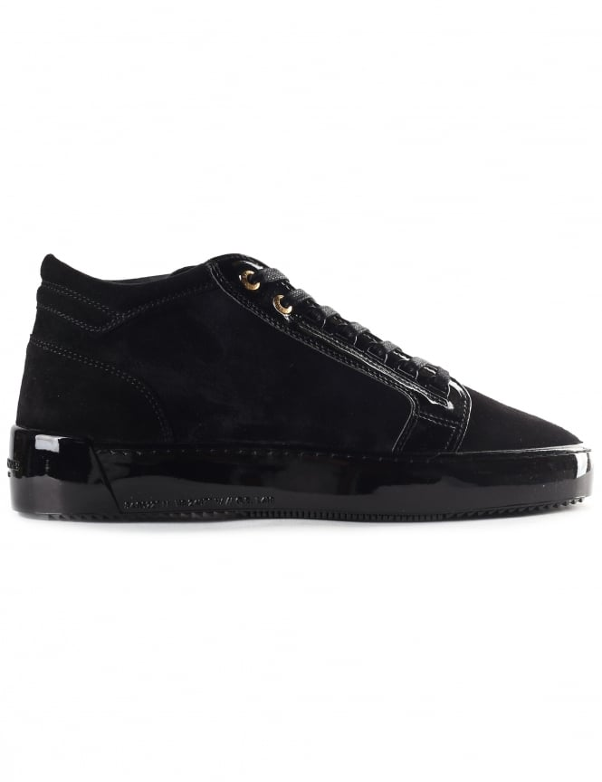 Android Homme Men's Mid Top Propulsion Suede Patent Leather Trainer