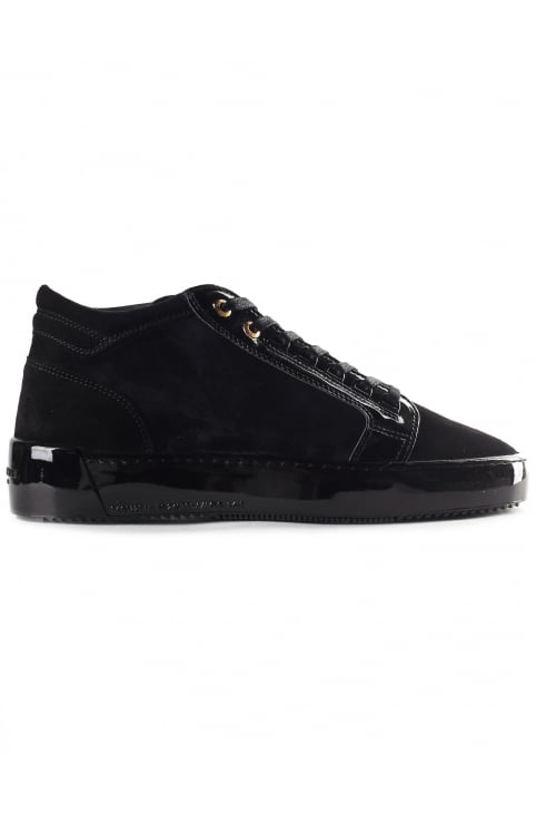 Men's Mid Top Propulsion Suede Patent Leather Trainer