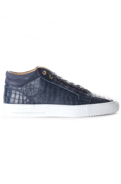 Men's Propulsion Mid Croc Embossed Leather Trainer