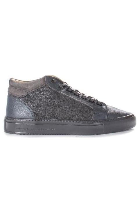 Men's Propulsion Mid Stingray Emboss Plain Leather Trainer