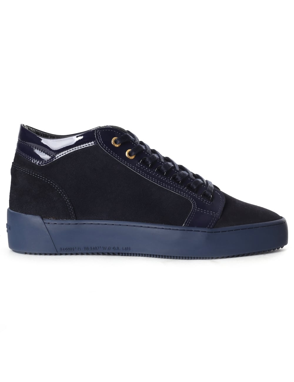 5df272ee478 Android Homme Mid Propulsion Men s Suede Patent Trainer