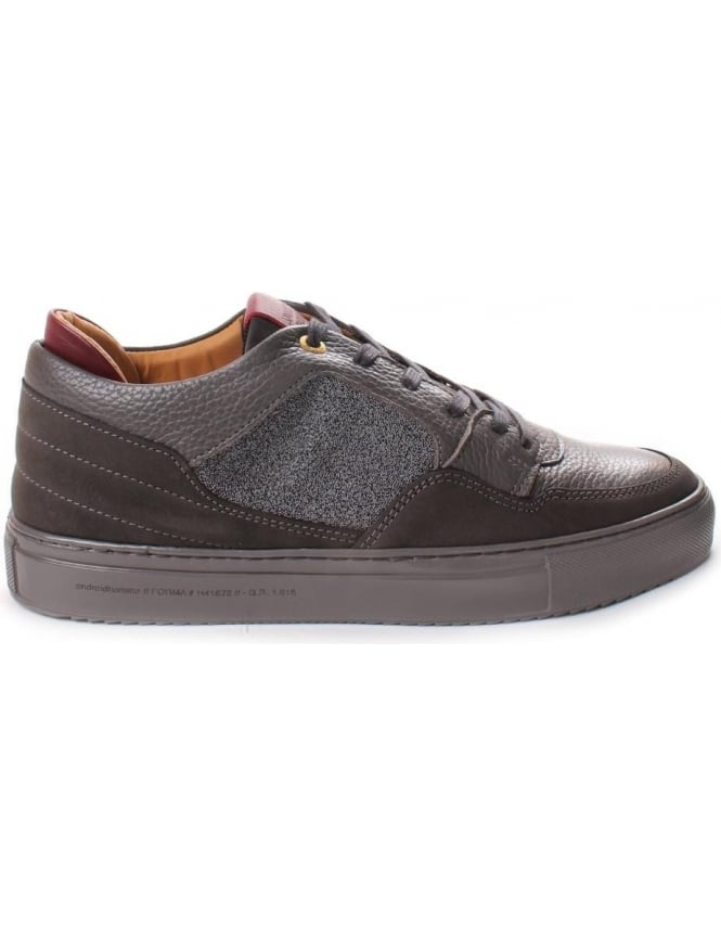 Android Homme Omega Low Men's Caviar Nubuck And Leather Trainer