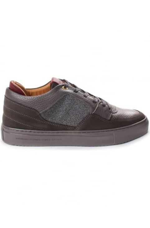 Omega Low Men's Caviar Nubuck And Leather Trainer