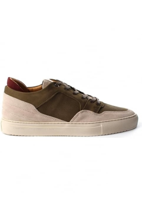 Omega Nubuck And Suede Men's Trainer Beige
