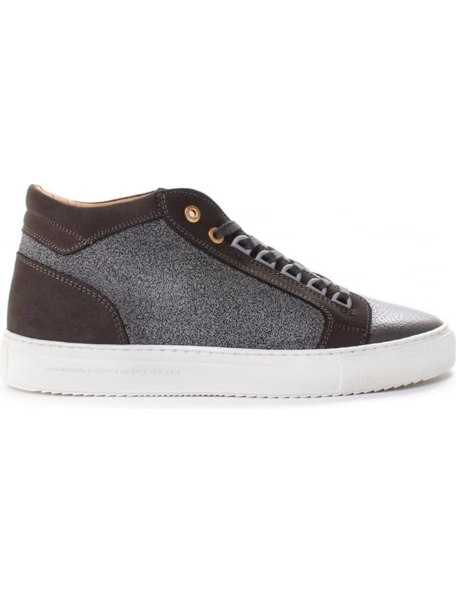 Android Homme Propulsion Men's Mid Caviar Nubuck And Leather Trainer