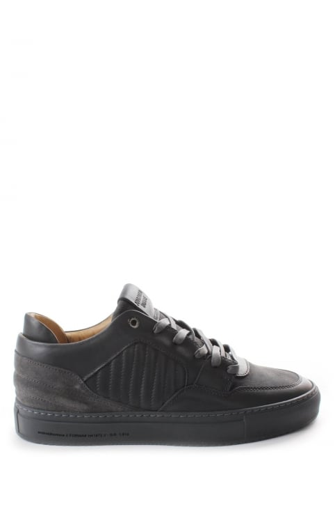 Side Quilt Men's Stitch Leather Trainer