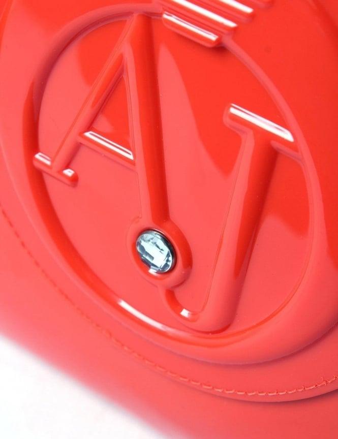 ... Armani Jeans 0529B Women s  AJ  Logo Patent Hand Bag Orange. Tap image  to zoom. 0529B Women  039 s   039 AJ  039  ... dfea6243e3beb