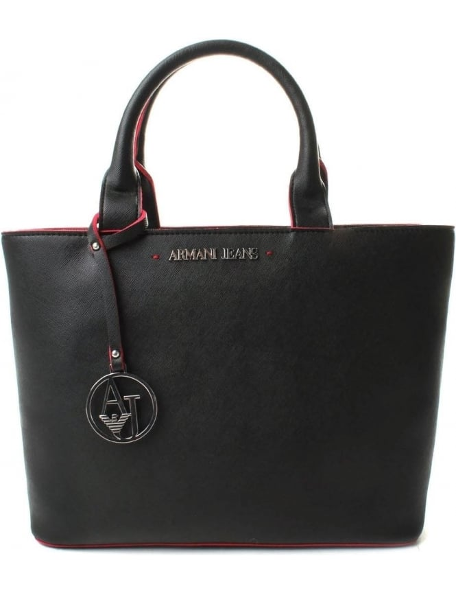 Armani Jeans 922531 Women's Colour Trim Small Shopper Bag