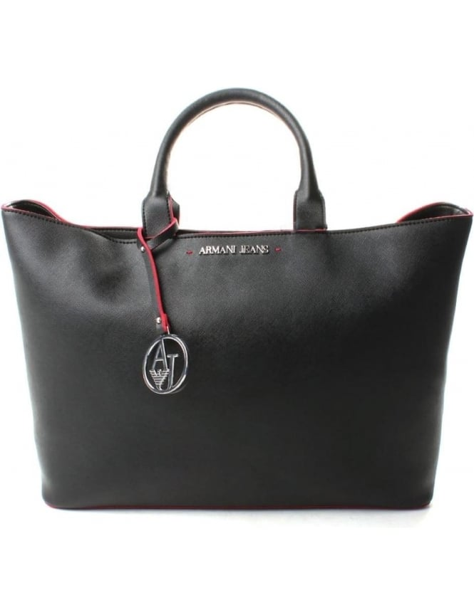 Armani Jeans 922532 Women's Colour Trim Shopper Bag Black