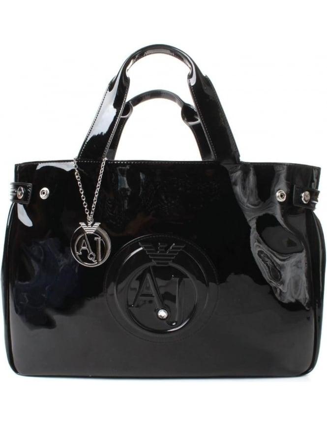 219818f61c Armani Jeans 922591 Women s  AJ  Logo Patent Shopper Bag