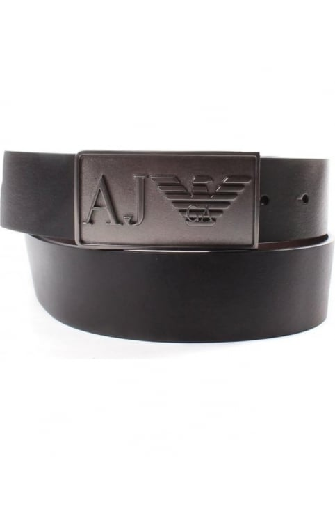 931501 Men's 'AJ' Eagle Buckle Belt Black