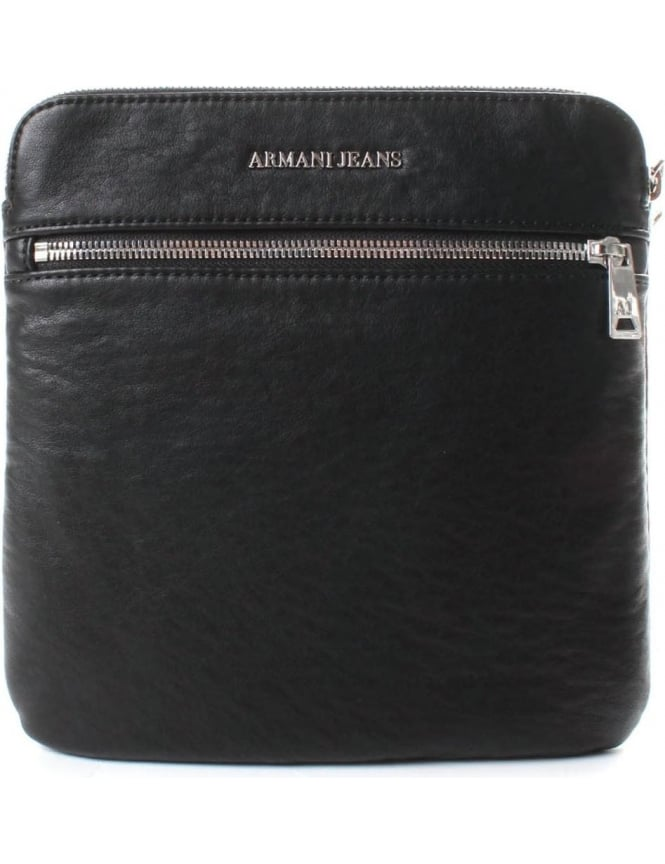 Armani Jeans 932040 Men's Flat Crossbody Bag Black